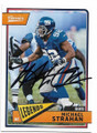 MICHAEL STRAHAN NEW YORK GIANTS AUTOGRAPHED FOOTBALL CARD #42219D