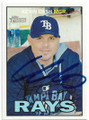 KEVIN CASH TAMPA BAY RAYS AUTOGRAPHED BASEBALL CARD #42219E