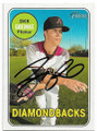 ZACK GREINKE ARIZONA DIAMONDBACKS AUTOGRAPHED BASEBALL CARD #42219i