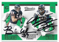 BRIAN URLACHER & VON MILLER CHICAGO BEARS & DENVER BRONCOS DOUBLE AUTOGRAPHED FOOTBALL CARD #42319E