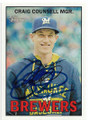 CRAIG COUNSELL MILWAUKEE BREWERS AUTOGRAPHED BASEBALL CARD #42319J