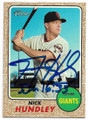 NICK HUNDLEY SAN FRANCISCO GIANTS AUTOGRAPHED BASEBALL CARD #42419G