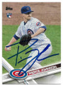 PIERCE JOHNSON CHICAGO CUBS AUTOGRAPHED ROOKIE BASEBALL CARD #42419i