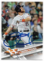 DEREK FISHER HOUSTON ASTROS AUTOGRAPHED ROOKIE BASEBALL CARD #42519C