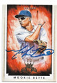 MOOKIE BETTS BOSTON RED SOX AUTOGRAPHED BASEBALL CARD #42519i