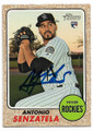ANTONIO SENZATELA COLORADO ROCKIES AUTOGRAPHED ROOKIE BASEBALL CARD #42619A