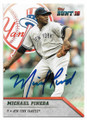 MICHAEL PINEDA NEW YORK YANKEES AUTOGRAPHED BASEBALL CARD #42719C