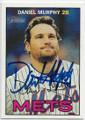 DANIEL MURPHY NEW YORK METS AUTOGRAPHED BASEBALL CARD #42919E