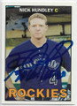 NICK HUNDLEY COLORADO ROCKIES AUTOGRAPHED BASEBALL CARD #42919G