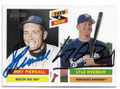 JIMMY PIERSALL & LYLE OVERBAY BOSTON RED SOX & MILWAUKEE BREWERS DOUBLE AUTOGRAPHED BASEBALL CARD #50219B