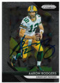 AARON RODGERS GREEN BAY PACKERS AUTOGRAPHED FOOTBALL CARD #50319D