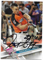 GIANCARLO STANTON MIAMI MARLINS AUTOGRAPHED BASEBALL CARD #50519B