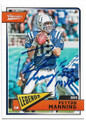 PEYTON MANNING INDIANAPOLIS COLTS AUTOGRAPHED FOOTBALL CARD #50519E