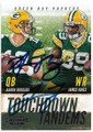 AARON RODGERS & JAMES JONES GREEN BAY PACKERS DOUBLE AUTOGRAPHED FOOTBALL CARD #50519F