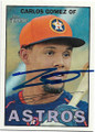 CARLOS GOMEZ HOUSTON ASTROS AUTOGRAPHED BASEBALL CARD #52419A