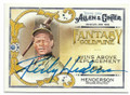 RICKEY HENDERSON OAKLAND ATHLETICS AUTOGRAPHED BASEBALL CARD #52519B