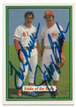 TOM SEAVER & JOHNNY BENCH CINCINNATI REDS DOUBLE AUTOGRAPHED VINTAGE BASEBALL CARD #52619A