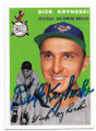 DICK KRYHOSKI BALTIMORE ORIOLES AUTOGRAPHED REPRINT BASEBALL CARD #52919A