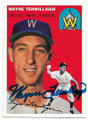 WAYNE TERWILLIGER WASHINGTON SENATORS AUTOGRAPHED BASEBALL CARD #53119A