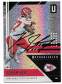 KAREEM HUNT KANSAS CITY CHIEFS AUTOGRAPHED FOOTBALL CARD  #53119B