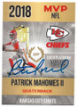 PATRICK MAHOMES II KANSAS CITY CHIEFS AUTOGRAPHED FOOTBALL CARD #53119D