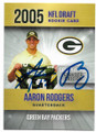 AARON RODGERS GREEN BAY PACKERS AUTOGRAPHED ROOKIE FOOTBALL CARD #60519B