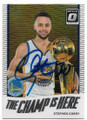 STEPHEN CURRY GOLDEN STATE WARRIORS AUTOGRAPHED BASKETBALL CARD #60619B