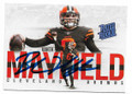 BAKER MAYFIELD CLEVELAND BROWNS AUTOGRAPHED ROOKIE FOOTBALL CARD #60619D