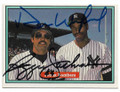 DAVE WINFIELD & REGGIE JACKSON NEW YORK YANKEES DOUBLE AUTOGRAPHED VINTAGE BASEBALL CARD #60719D