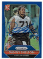 DANNY SHELTON CLEVELAND BROWNS AUTOGRAPHED ROOKIE FOOTBALL CARD #60819A