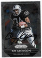 BO JACKSON LOS ANGELES RAIDERS AUTOGRAPHED FOOTBALL CARD #60819C