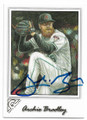 RCHIE BRADLEY ARIZONA DIAMONDBACKS AUTOGRAPHED BASEBALL CARD #60819D