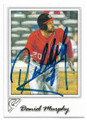 DANIEL MURPHY WASHINGTON NATIONALS AUTOGRAPHED BASEBALL CARD #61119A