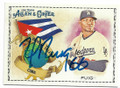 YASIEL PUIG LOS ANGELES DODGERS AUTOGRAPHED BASEBALL CARD #61219A