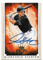 GIANCARLO STANTON MIAMI MARLINS AUTOGRAPHED BASEBALL CARD #61319A