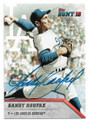 SANDY KOUFAX LOS ANGELES DODGERS AUTOGRAPHED BASEBALL CARD #61419A