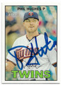 PHIL HUGHES MINNESOTA TWINS AUTOGRAPHED BASEBALL CARD #61419C