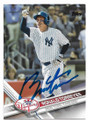 RONALD TORREYES NEW YORK YANKEES AUTOGRAPHED BASEBALL CARD #61519C
