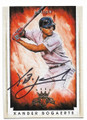 XANDER BOGAERTS BOSTON RED SOX AUTOGRAPHED BASEBALL CARD #61719C