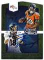 PEYTON MANNING & DEMARYIUS THOMAS DENVER BRONCOS DOUBLE AUTOGRAPHED FOOTBALL CARD #61819A