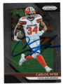 CARLOS HYDE CLEVELAND BROWNS AUTOGRAPHED FOOTBALL CARD #62019A