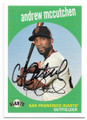 ANDREW McCUTCHEN SAN FRANCISCO GIANTS AUTOGRAPHED BASEBALL CARD #62019B