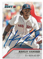 HANLEY RAMIREZ BOSTON RED SOX AUTOGRAPHED BASEBALL CARD #62019D
