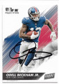 ODELL BECKHAM JR NEW YORK GIANTS AUTOGRAPHED FOOTBALL CARD #62119C