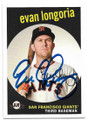 EVAN LONGORIA SAN FRANCISCO GIANTS AUTOGRAPHED BASEBALL CARD #62119D