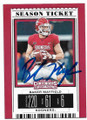 BAKER MAYFIELD OKLAHOMA SOONERS AUTOGRAPHED FOOTBALL CARD #62219C