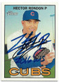 HECTOR RONDON CHICAGO CUBS AUTOGRAPHED BASEBALL CARD #62219D