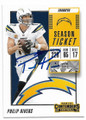 PHILIP RIVERS SAN DIEGO CHARGERS AUTOGRAPHED FOOTBALL CARD #62319A