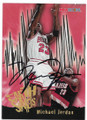 MICHAEL JORDAN CHICAGO BULLS AUTOGRAPHED BASKETBALL CARD #62419F