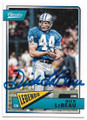 DICK LeBEAU DETROIT LIONS AUTOGRAPHED FOOTBALL CARD #62519E